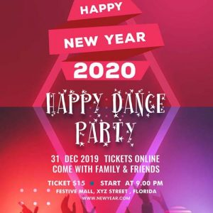 web mobi design new years eve flyer