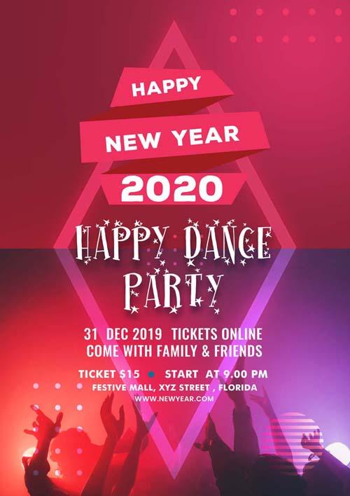 web mobi design new years eve flyer